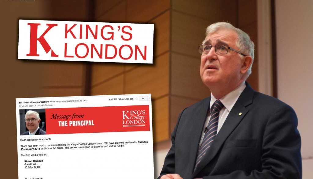 King's London rebrand – Ed Byrne, inset the email