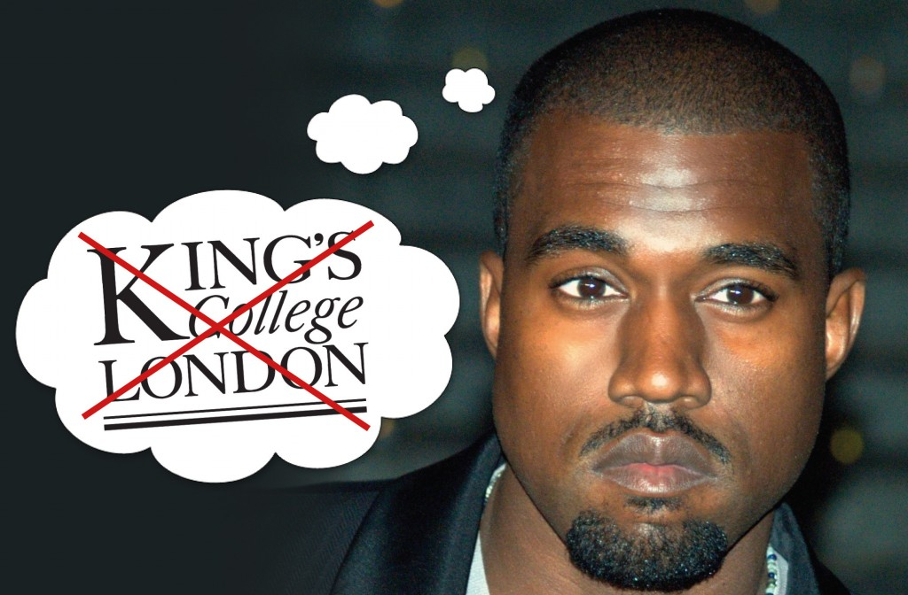 Kanye West is not at King's College London