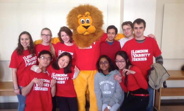 Reggie the Lion before fencing at London Varsity 2015