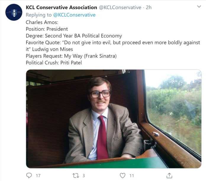 KCL Conservative Society elects controversial president