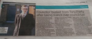 Article on Amos in the Kent and Sussex Courier