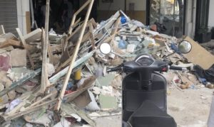 rubble on the street,Beirut Blasts King's Students