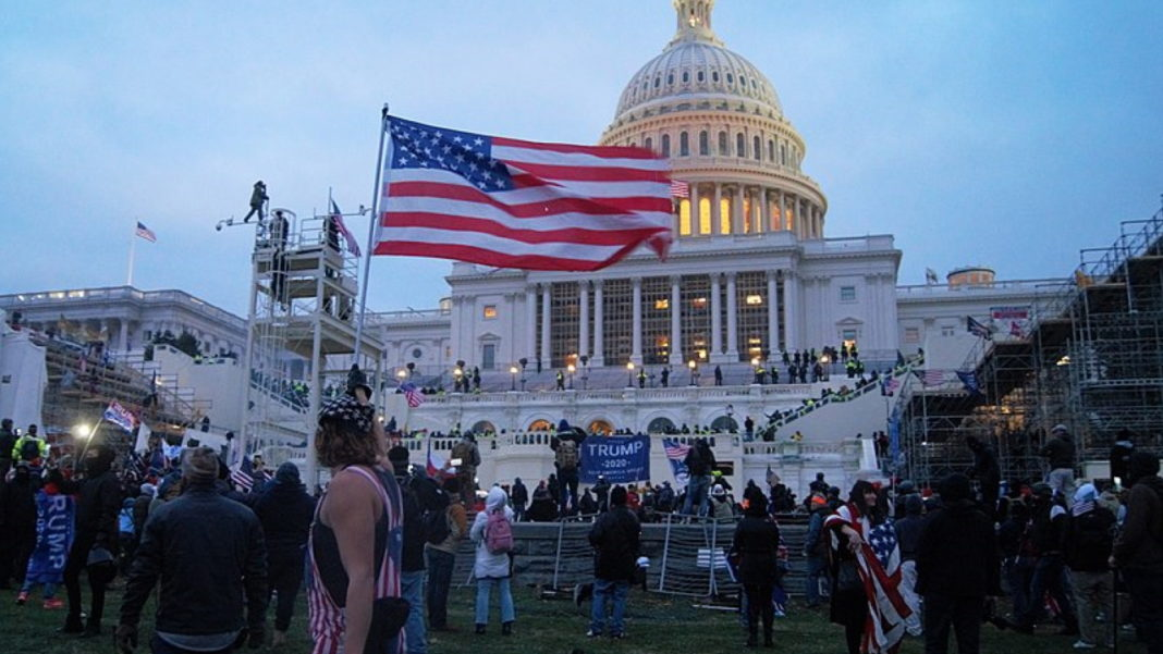 Trump supporters at the US Capitol Building.