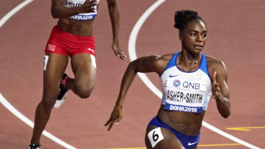 Dina Asher Smith KCL Olympic running